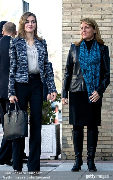 Queen Letizia of Spain attends a meeting with the Board of the 'Foundation UNICEF Cominte Spanish' at UNICEF offices