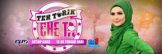 Teh Tarik Che Ta TV1 program bual bicara bersama artis / selebriti jemputan, gambar Teh Tarik Che Ta TV1