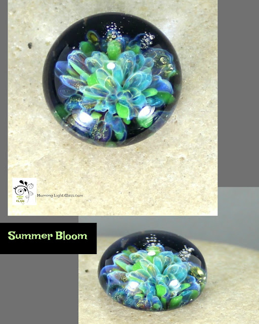 Lampwork Glass Implosion Cabochon