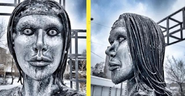 Странный памятник, который напугал местных жителей, установили в Воронеже