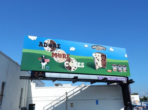 Adore more core Ben Jerrys icecream billboard