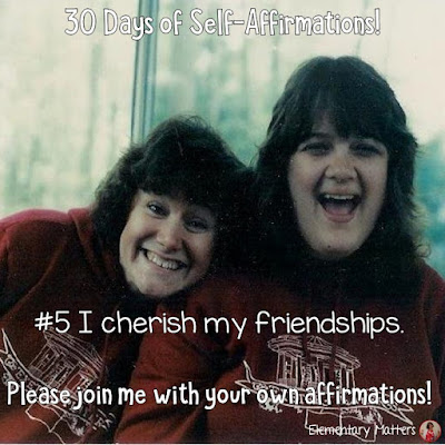"30 Days of Self-Affirmations: Day 5: I cherish my friendships! For 30 days, I will be celebrating my own ""new year"" with self-affirmations. If you are interested in joining me, feel free to  write your own affirmations here, or  respond on my social media here: http://bit.ly/2JuKRWa"