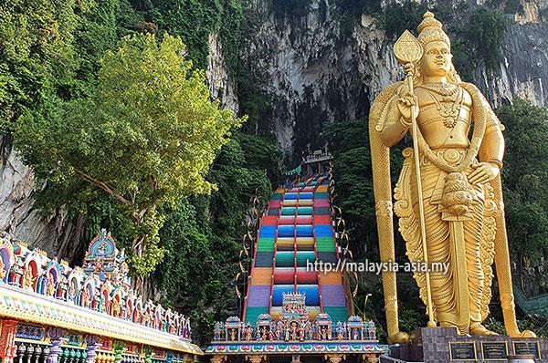 Kuala Lumpur Rainbow Staircase Batu Caves