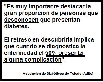 Diabetes: Puedes tenerla y no saberlo Fuente: Adito