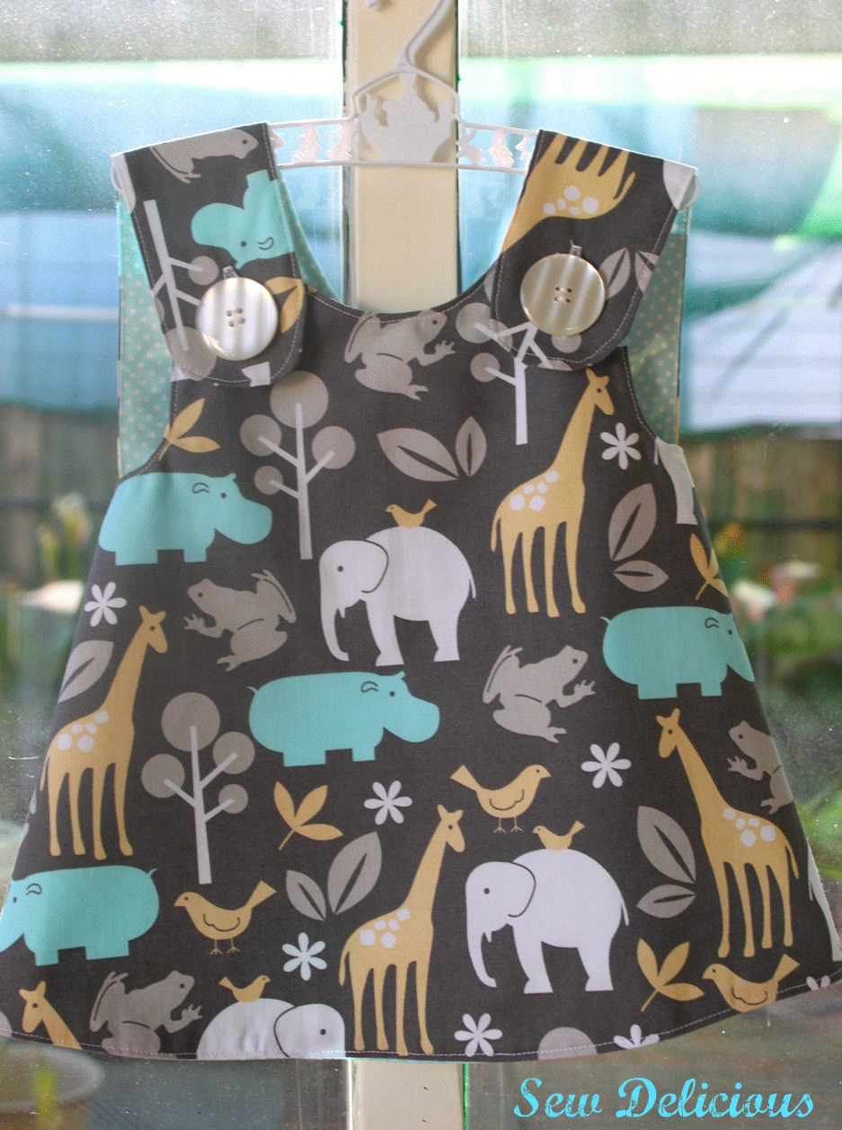 Sew Delicious Crossover Pinafore For Jj
