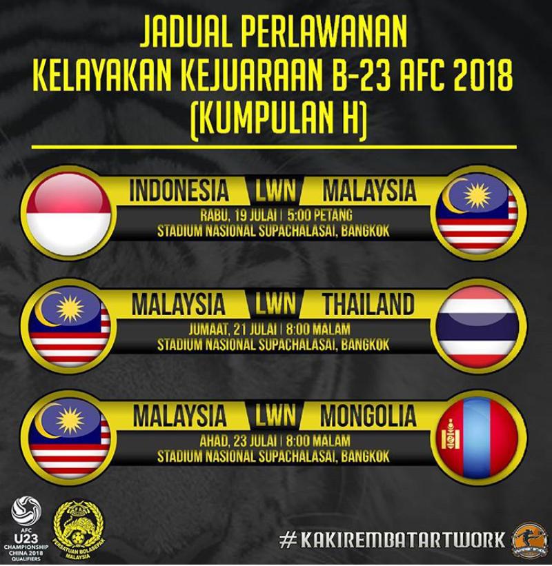 Live Streaming Bola: Live Streaming Malaysia Vs Indonesia Kelayakan AFC Bawah