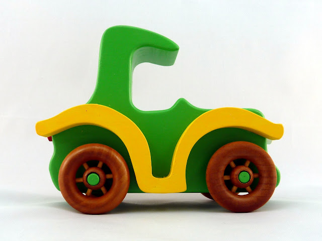 Handmade Wood Toy Car, An Old Fashioned Style Coupe from the Bad Bob's Custom Motors Series