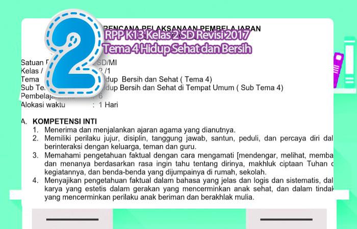 RPP K13 Kelas 2 SD Revisi 2017 Tema 4 Hidup Sehat dan Bersih