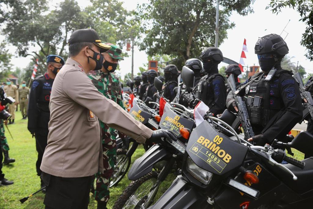 Kapolda Jateng dan Kasdam IV DIponegoro Buka Latihan Gabungan TNI-Polri se-Solo Raya