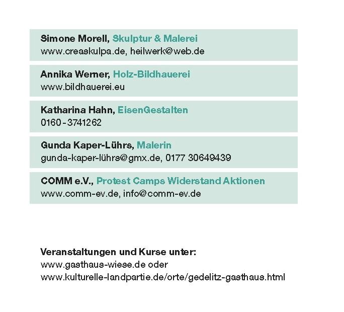 Kulturelle Landpartie Karte.Einladung Zur Kulturellen Landpartie Gasthaus Wiese Gedelitz 10 Mai