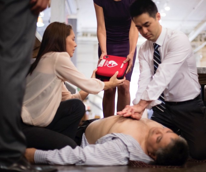 Chest Compressions and an AED can help restart a heart