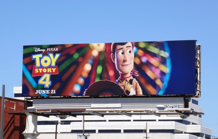 Toy Story 4 Woody billboard
