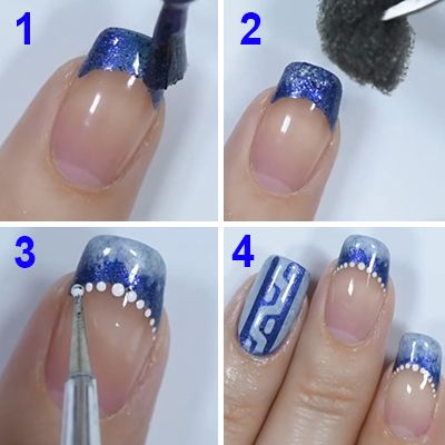 dica unhas decoradas azuis