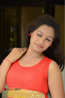 Actress Avanthika Stills in Sleeveless Red Short Dress  0051.JPG