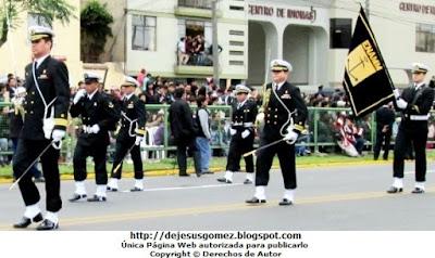 Foto de desfile de la Escuela Nacional de Marina Mercante ENAMM 2012 por Jesus Gómez