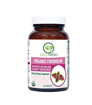 Geo-Fresh Organic Forskolin Tablet - 450MG (90 Tablets) (Fat Burner, Weight Management)