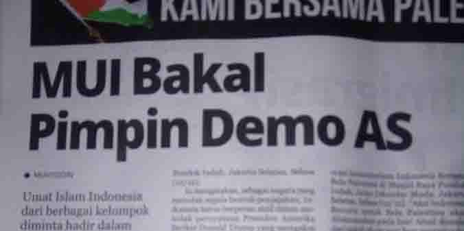 Jokowi Cuek, Umat Persiapkan Demo Besar Bela Palestina 17 Desember