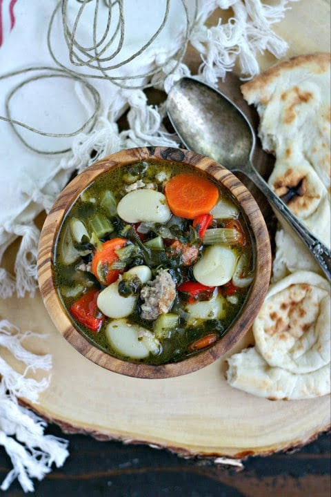 Instant Pot Butter Bean and Sausage Soup | Everyday Maven