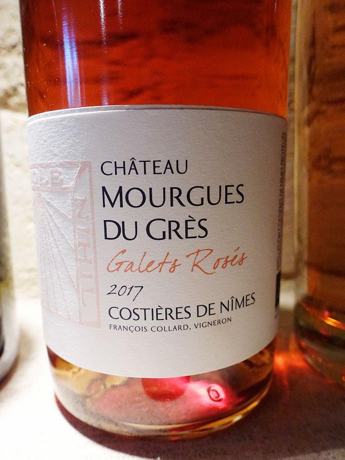 Château Mourgues du Grès Galets Rosés 2017 (88 pts)