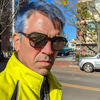 The author with DYED blue hair