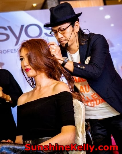 SYOSS Professional Hair Care, Hair Styling in Malaysia, SYOSS hair product, malaysia, hair care, hair styling, Daisuke Hamaguchi, Number 76 Hair Salon CEO, technical Educator
