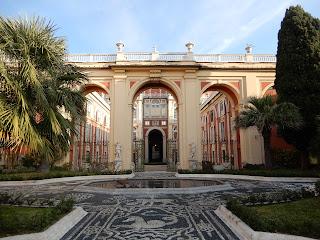 ジェノヴァのMuseo di Palazzo Realeの中庭