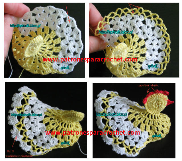 tutorial gallina tejida crochet