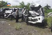 Kecelakaan Beruntun Di Nganjuk, 2 Tewas 2 Luka