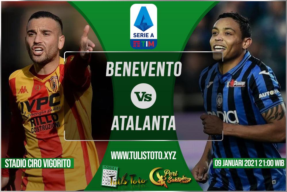 Prediksi Benevento vs Atalanta 09 Januari 2021