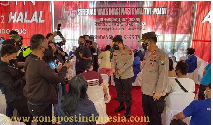 Sambut Hari Bhayangkara, Polda Jatim Melaksanakan Vaksinasi Serentak Dengan Polda-polda Seluruh Indonesia