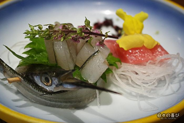 sashimi, menu kaiseki, Hakone pax Yoshino