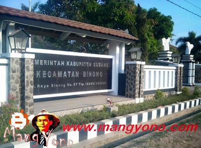 Kecamatan Binong, Kabupaten Subang, Jawa Barat.