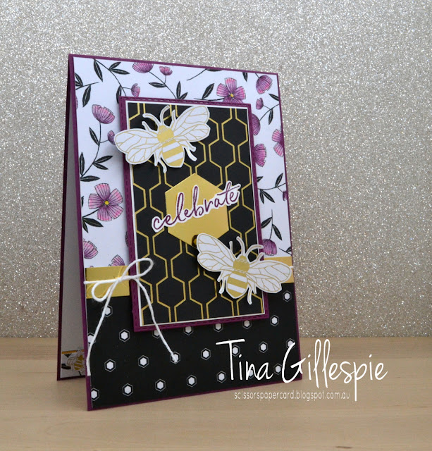 scissorspapercard, Stampin' Up!, Art With Heart, Sale-A-Bration, Happy Birthday To You, Golden Honey SDSP, Watercolour Pencils