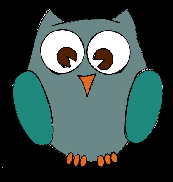 Teacher Owl Clip Art Black and White