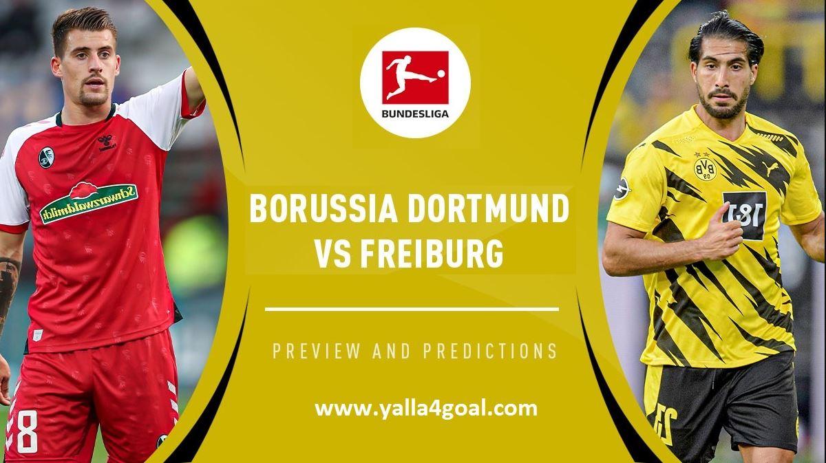 مباراة بوروسيا دورتموند وفرايبورج في الدوري الالماني