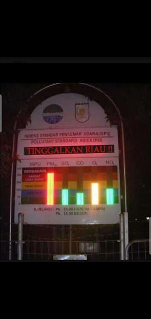 Gambar dan Video jerebu di Riau Indonesia