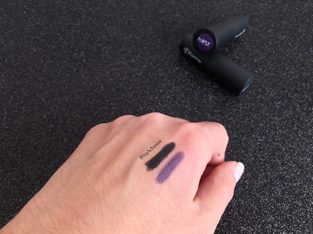 flormar khol kajal smoky eyes effect 001 black 004 purple swatches 4