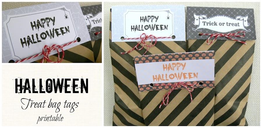 Free printable Halloween treat bag tags