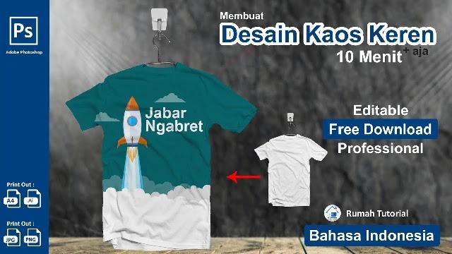 Gratis Kaos Psd Cara Simple Membuat Desain Kaos Adobe Photoshop Cc Templatekita Com