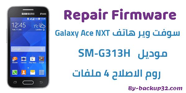 سوفت وير هاتف Galaxy Ace NXT موديل SM-G313H روم الاصلاح 4 ملفات تحميل مباشر