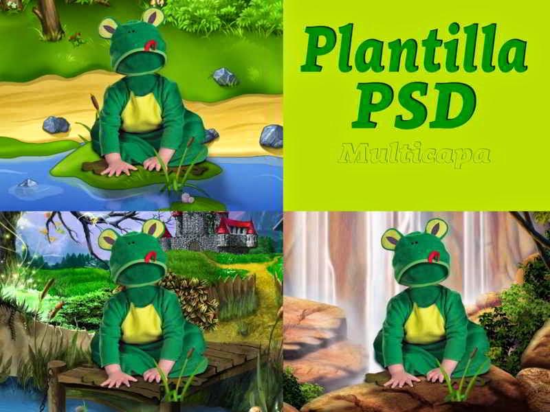 Plantilla para hacer fotomontajes con disfraz de rana