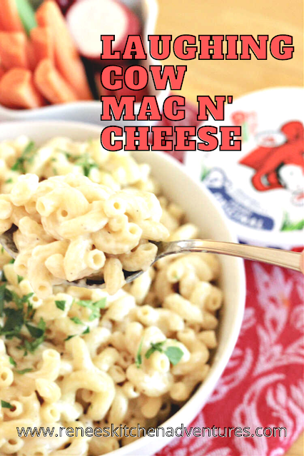 Laughing Cow Mac and Cheese pin for Pinterest