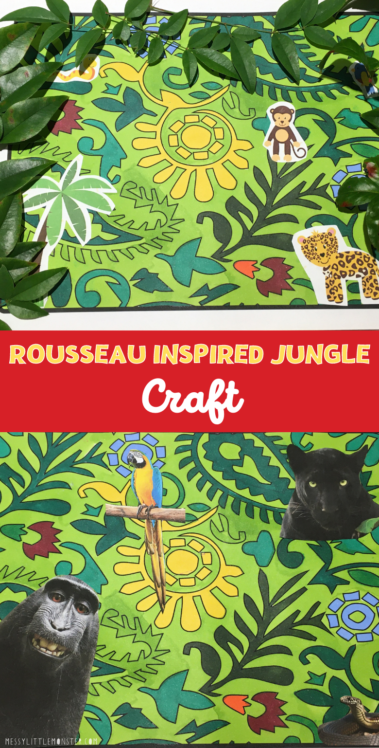 Rousseau inspired jungle craft for kids