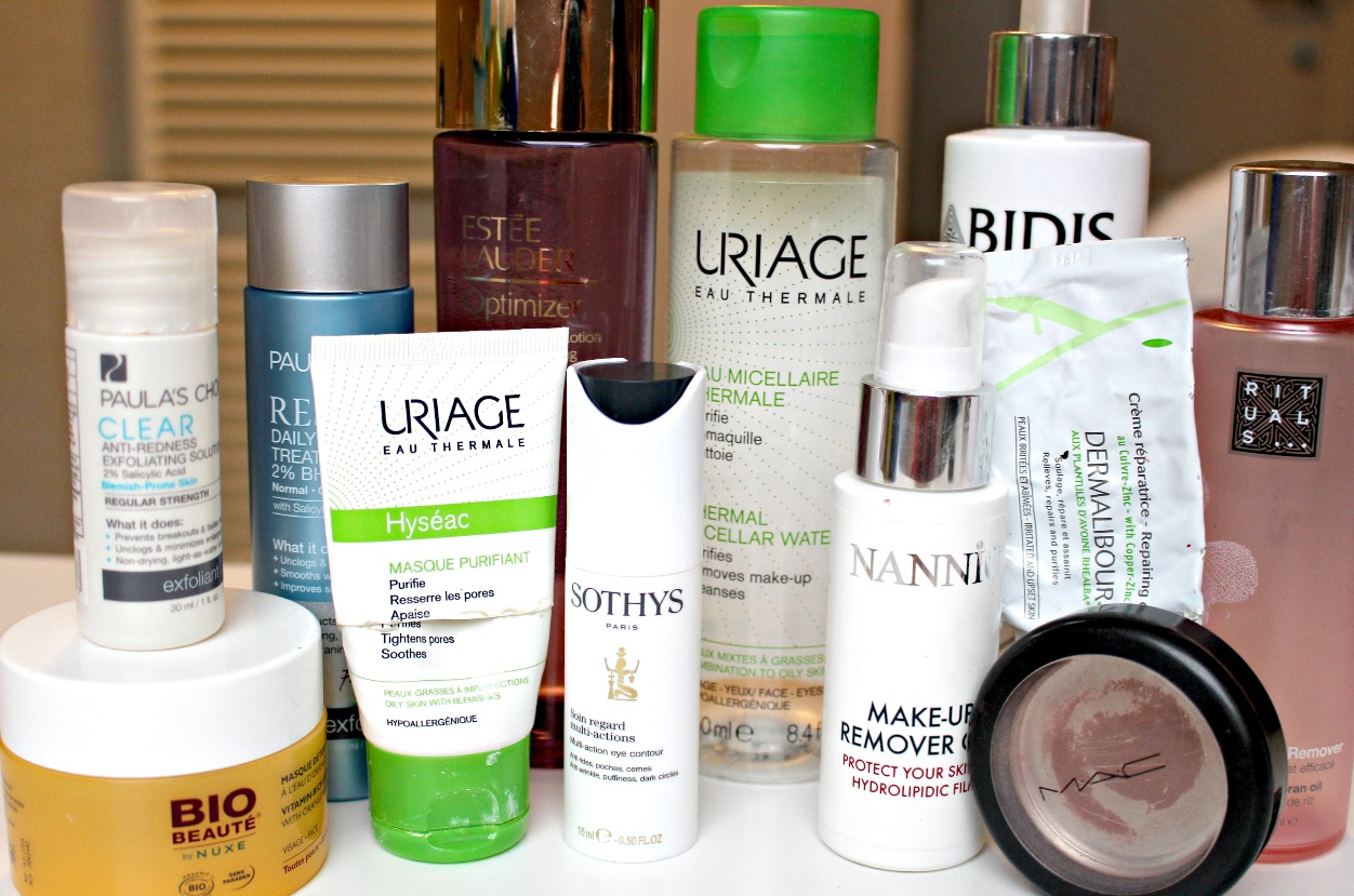 beauty trash & empties skincare en make up