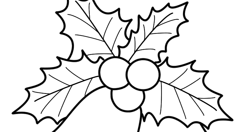 Christmas Coloring Pages For Kids: 10 New Mistletoe