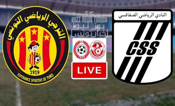 Match Taraji - Espérance Sportive De Tunis vs Club Sportif Sfaxien Live Stream
