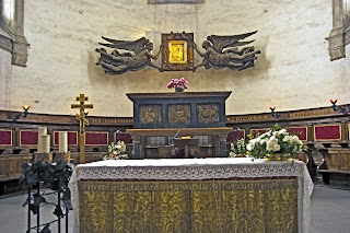 The tomb of St Luke in the Basilica of Santa Giustina in Padua is thought to contain his remains apart from the skull