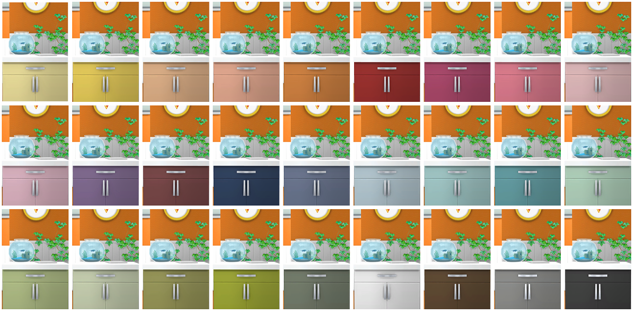 My Sims 4 Blog: Alpha Beta Phong Counters + Cabinets