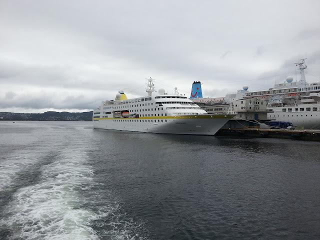 Cruise ship MS Hamburg in Bergen, Norway