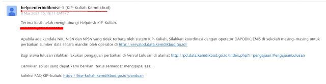 Email dari KIP Kuliah